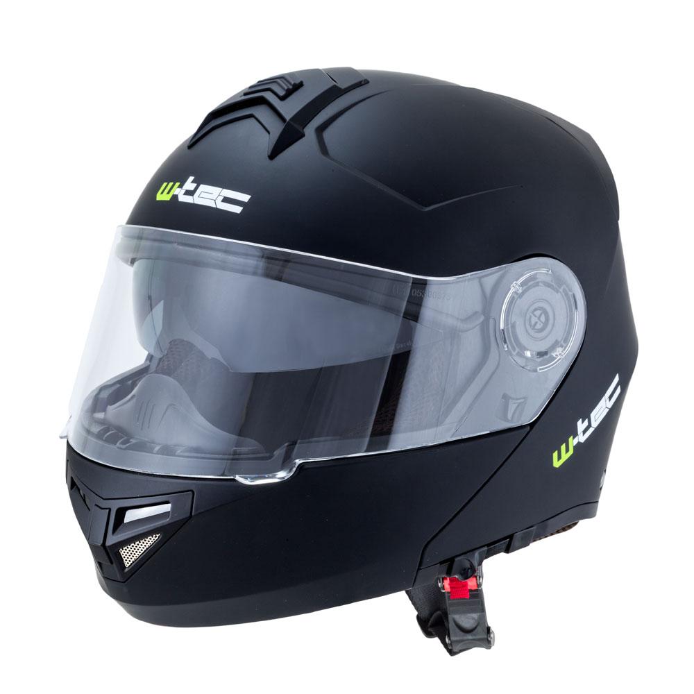 Výklopná moto helma W-TEC V270 matně černá - M (57-58)