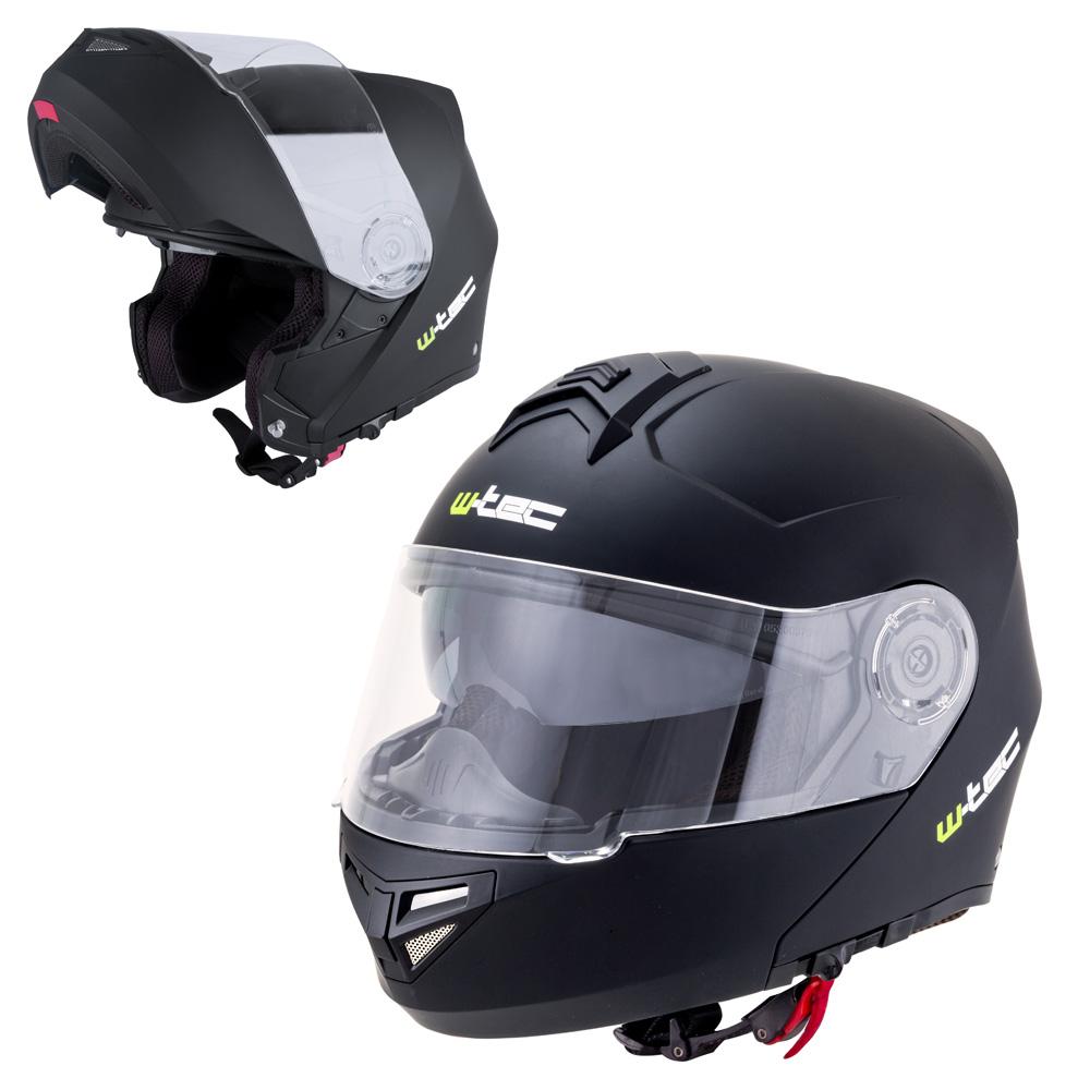 Výklopná moto helma W-TEC V270 matně černá - XS (54)