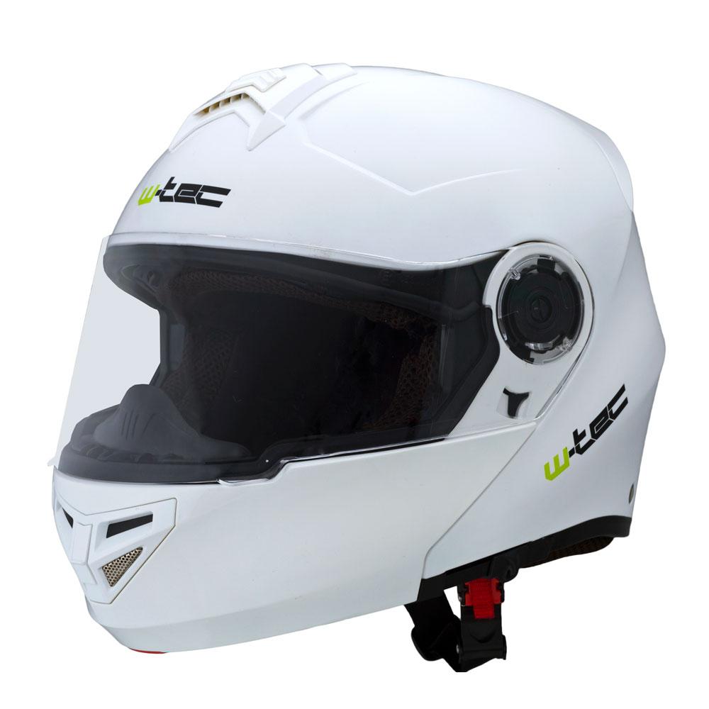 Výklopná moto helma W-TEC V270 bílá - M (57-58)