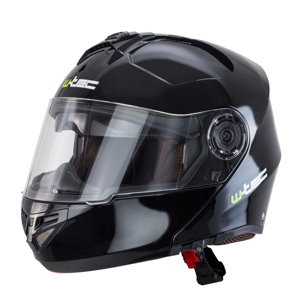 Výklopná moto helma W-TEC V270 černá - M (57-58)
