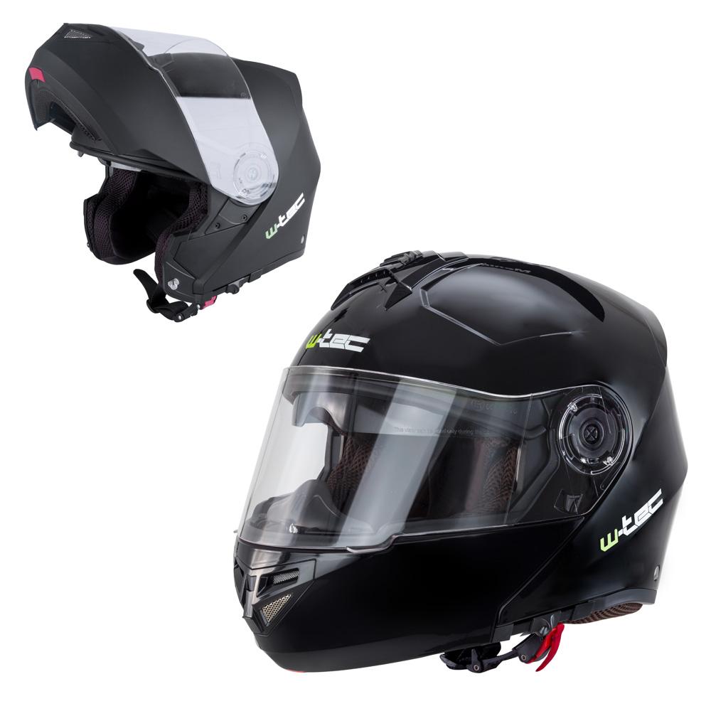 Výklopná moto helma W-TEC V270 černá - XS (54)