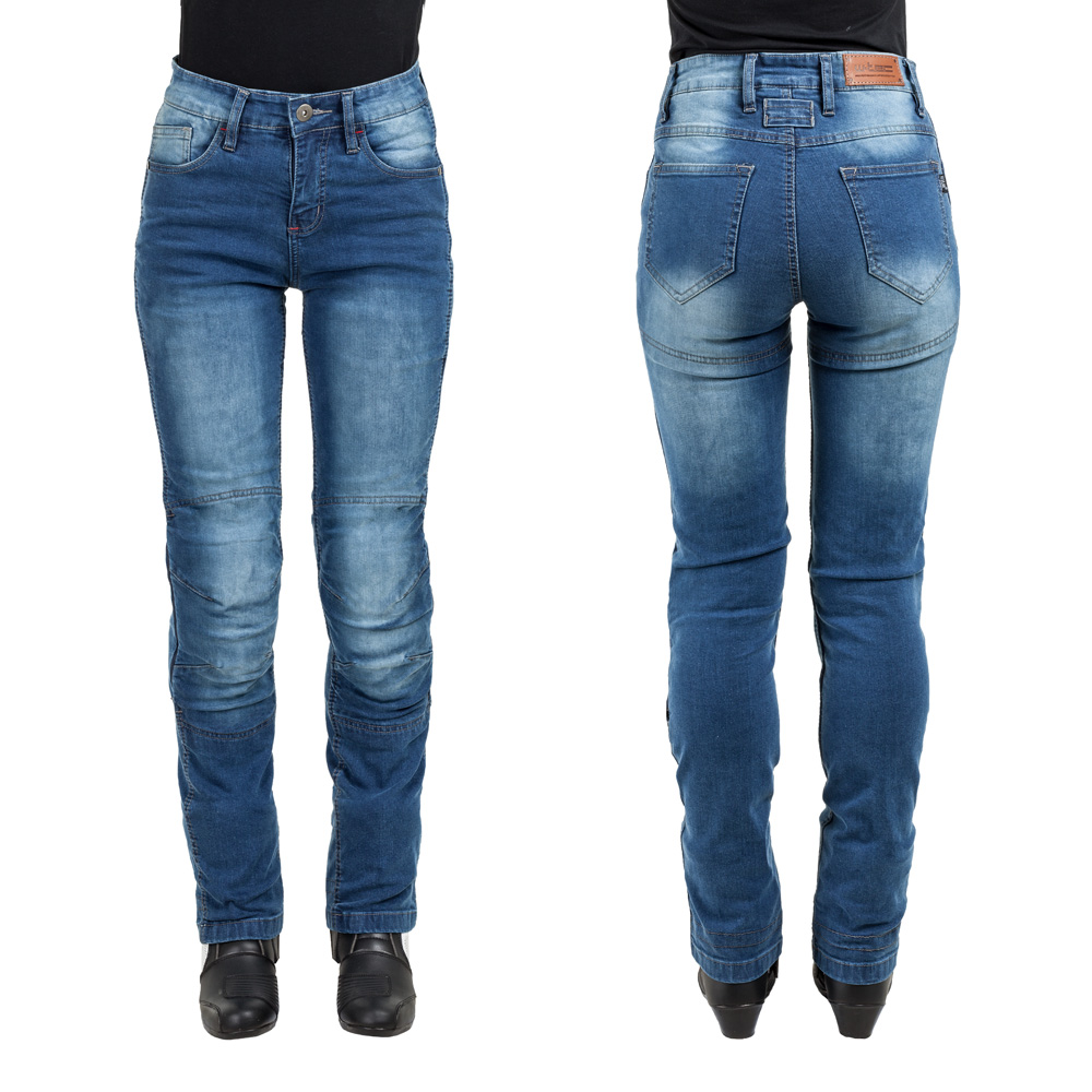 Dámské moto jeansy W-TEC Lustipa modrá - XS