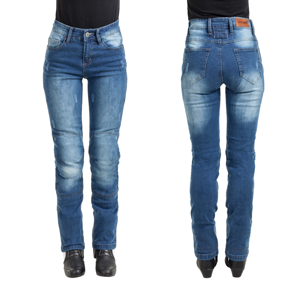 Dámské moto jeansy W-TEC Panimali modrá - M