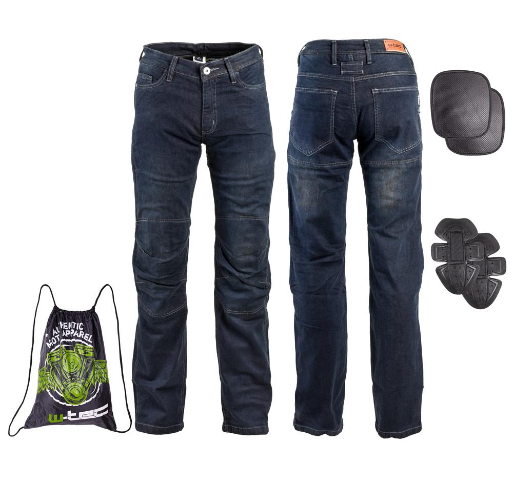 Pánské moto jeansy W-TEC Pawted tmavě modrá - L