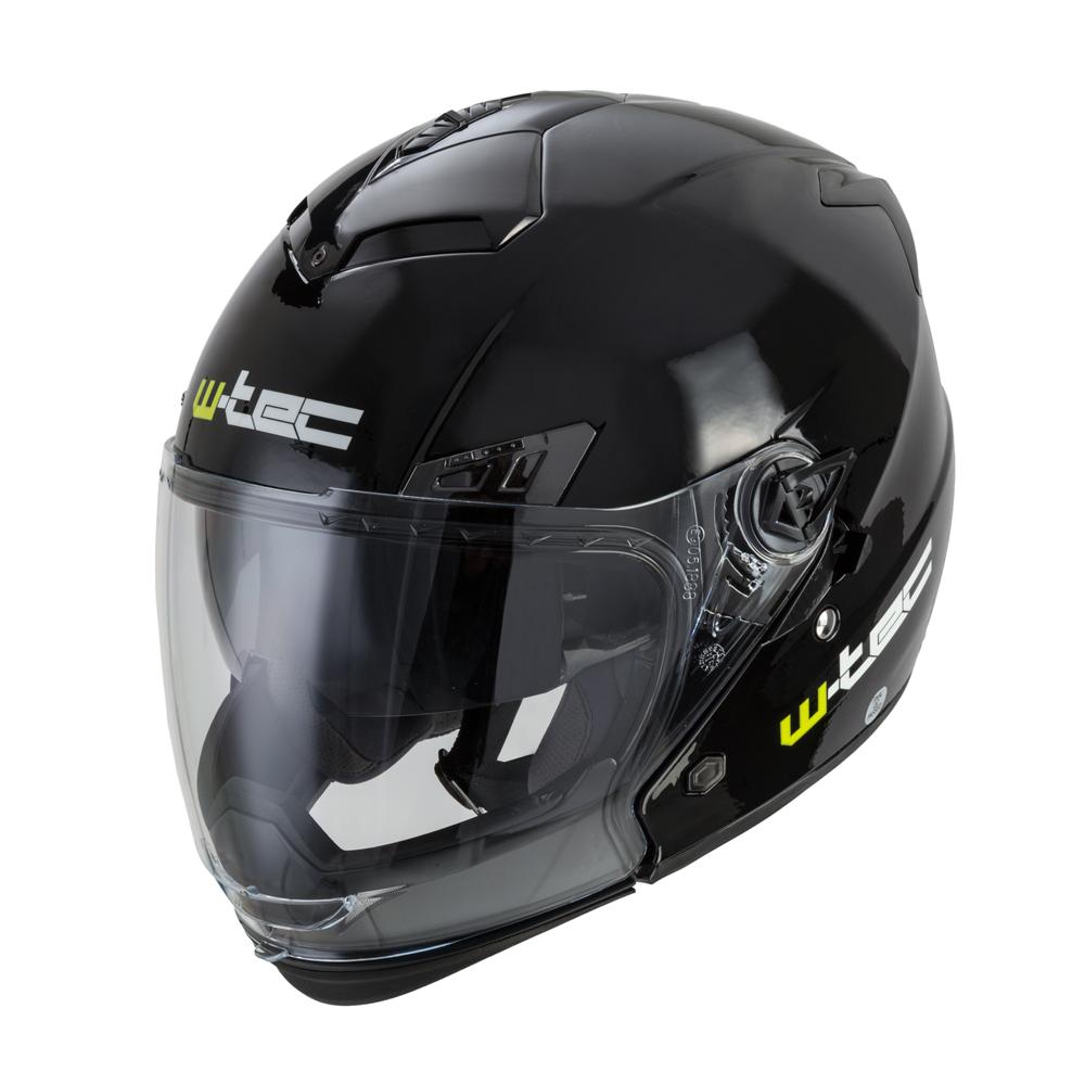 Moto helma W-TEC NK-850 černá lesk - S (55-56)