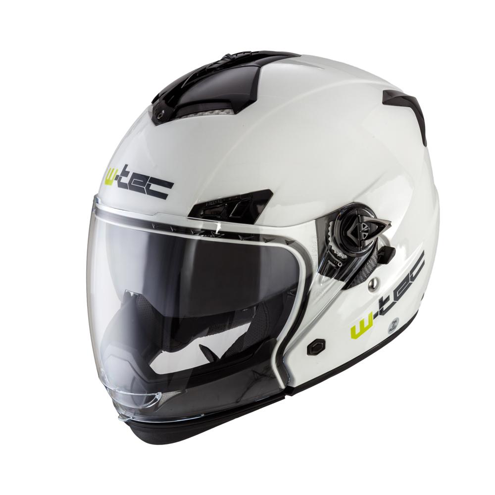 Moto helma W-TEC NK-850 bílá lesk - XS (53-54)