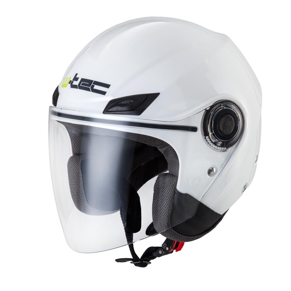 Moto helma W-TEC NK-627 bílá lesk - XS (53-54)