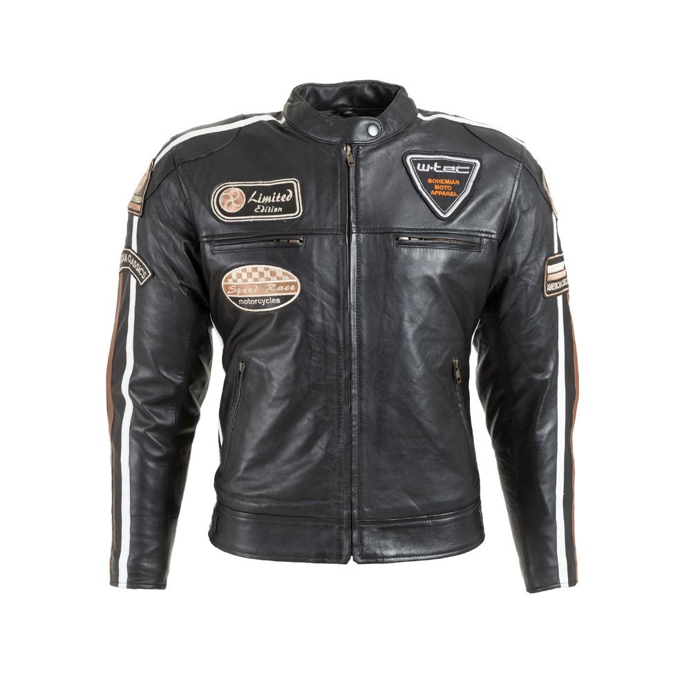 Dámská kožená moto bunda W-TEC Sheawen Lady černá - XS