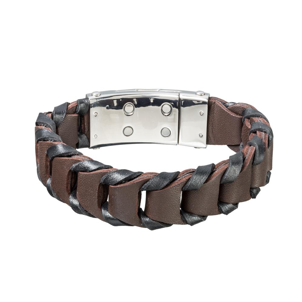 Magnetický náramek inSPORTline Pelor hnědá - 20.50 cm