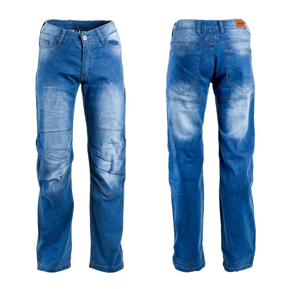Pánské moto jeansy W-TEC Davosh modrá - S