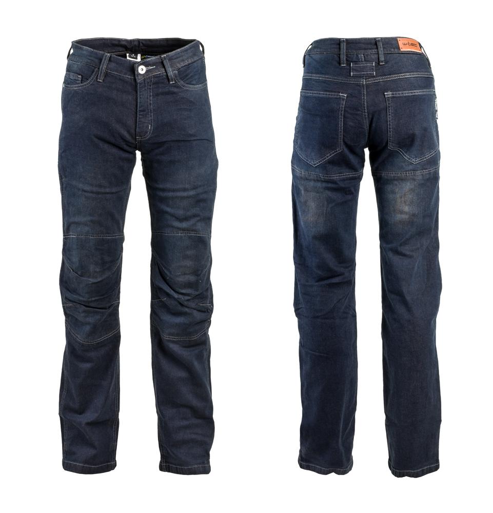 Pánské moto jeansy W-TEC Pawted tmavě modrá - S