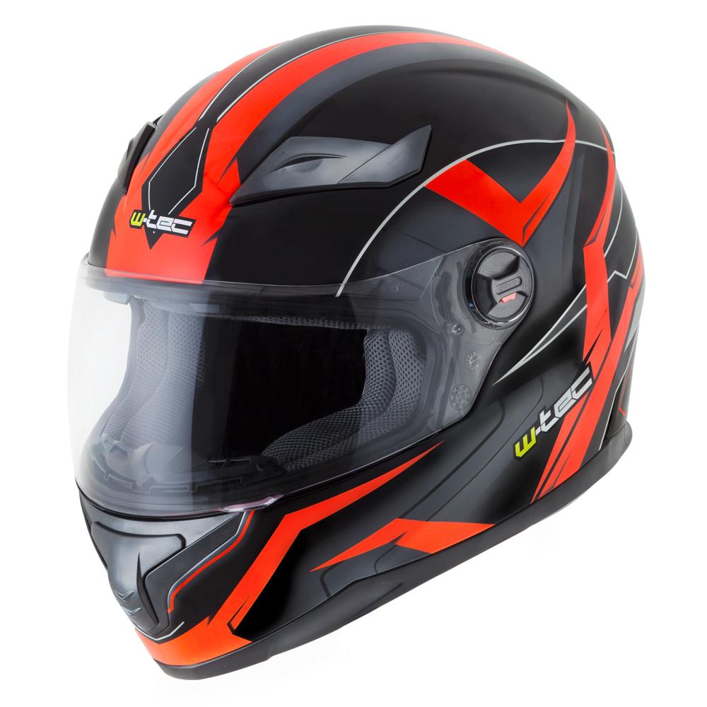 Integrální přilba W-TEC FS-811BO Fire Orange černo-oranžová - XS (54-55)