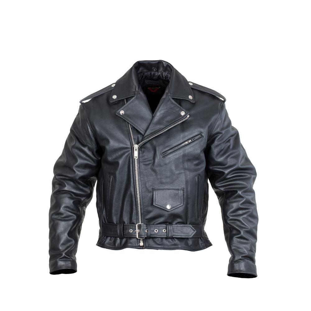 Kožená moto bunda Sodager Live To Ride Jacket černá - 5XL