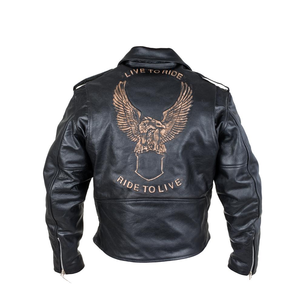 Kožená moto bunda Sodager Live To Ride Jacket M