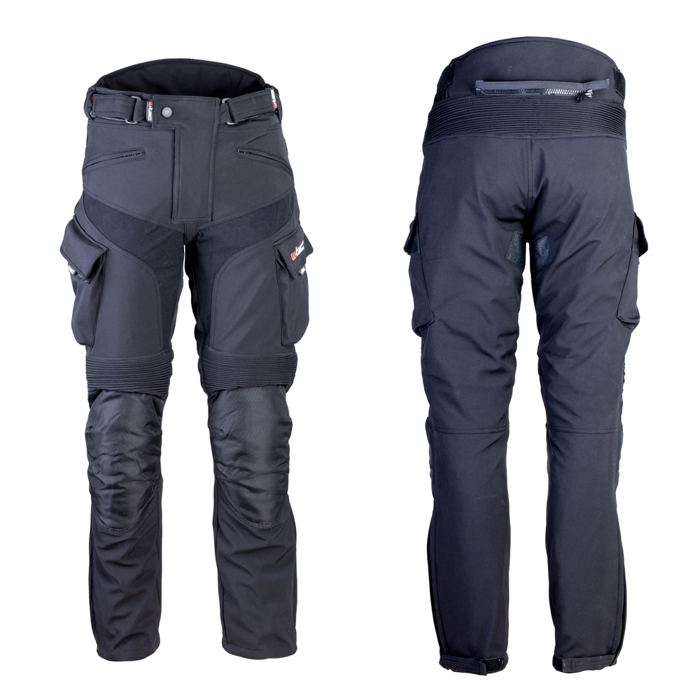 Pánské softshellové moto kalhoty W-TEC Erkalis GS-1729 černá - L