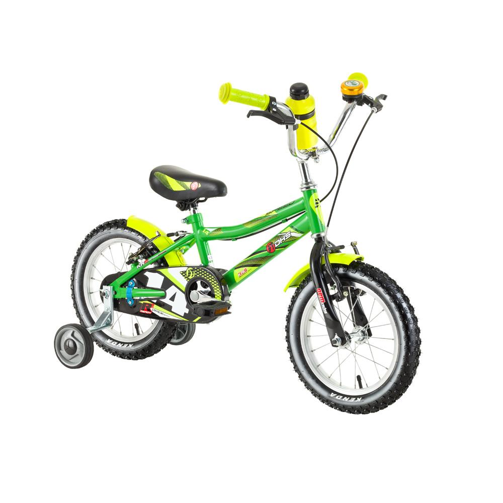 """Dětské kolo DHS Speed 1403 14"""" - model 2017 Green - Záruka 10 let"""