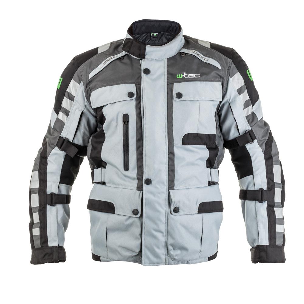 Moto bunda W-TEC Avontur šedo-černá - S