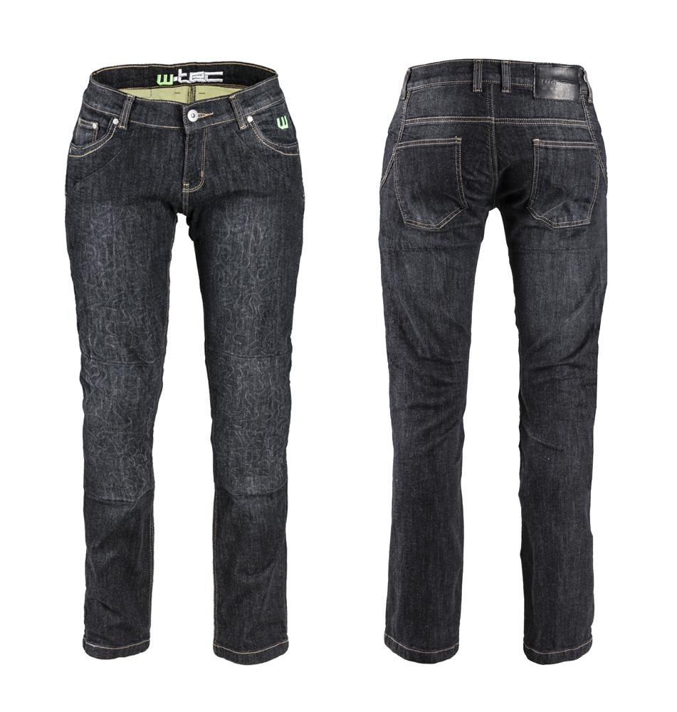 Dámské moto jeansy W-TEC C-2011 černé