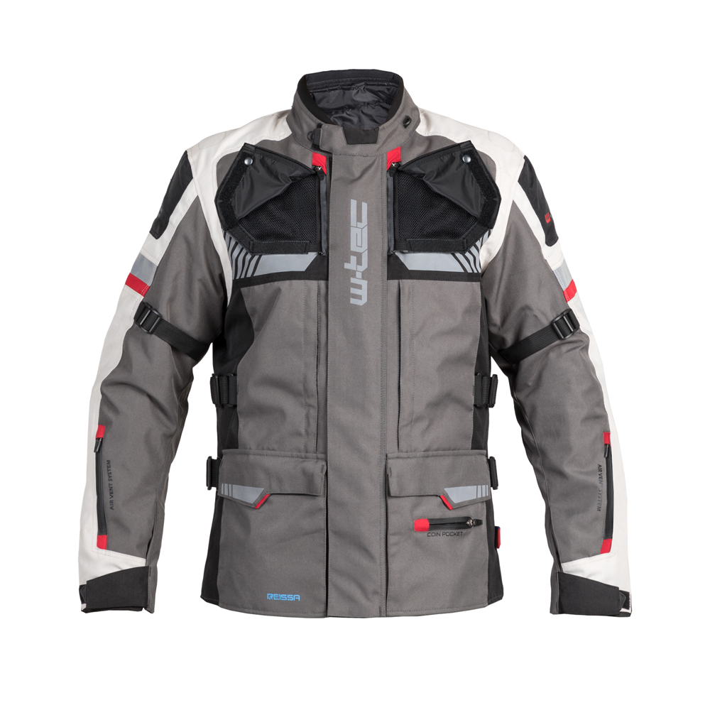 Touringová moto bunda W-TEC Excellenta Thunderstorm Gray - 5XL