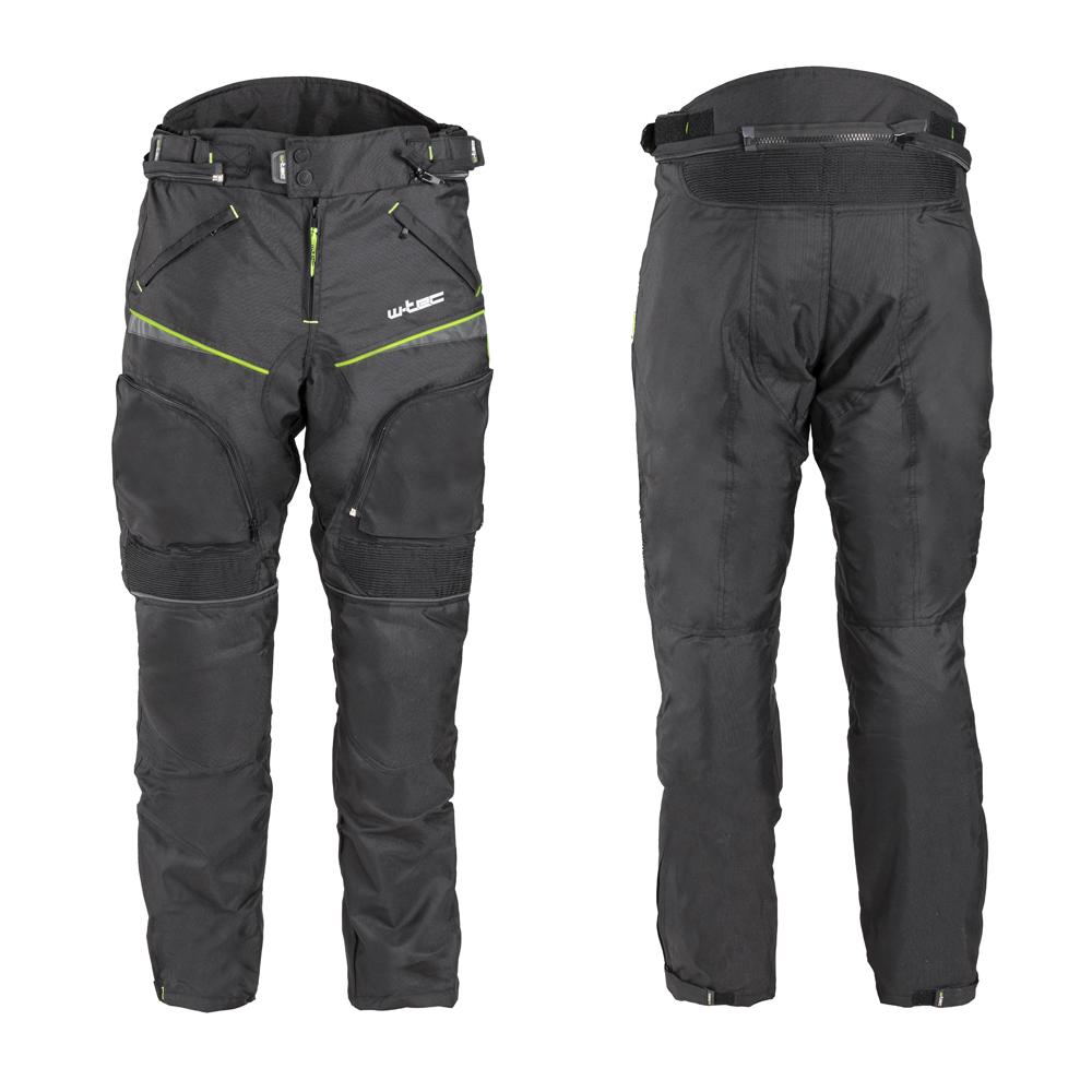 Levně Pánské Moto Kalhoty W-Tec Propant Černá-Fluo Žlutá L
