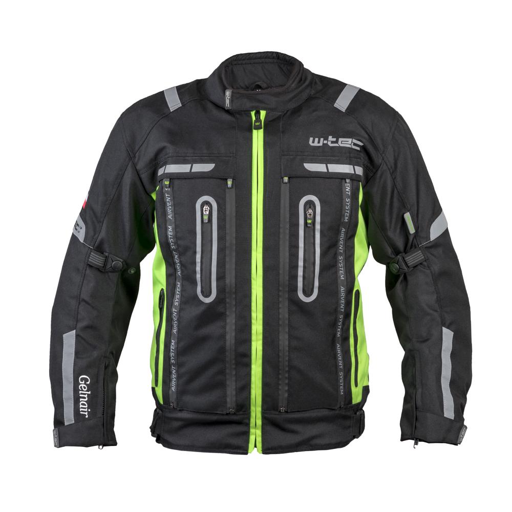 Moto bunda W-TEC Gelnair černo-zelená - XS