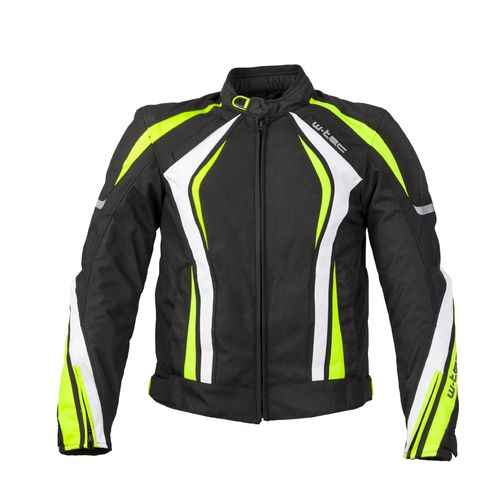 Pánská moto bunda W-TEC Chagalero Black-Yellow-White - 5XL