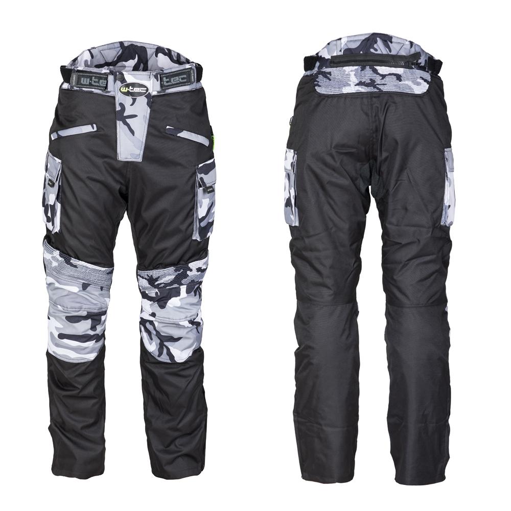 Pánské moto kalhoty W-TEC Kaamuf Black Camo - S