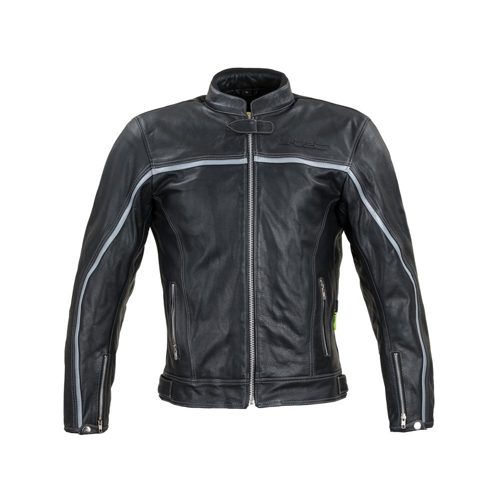 Levně Kožená Moto Bunda W-Tec Mathal Černá 6Xl