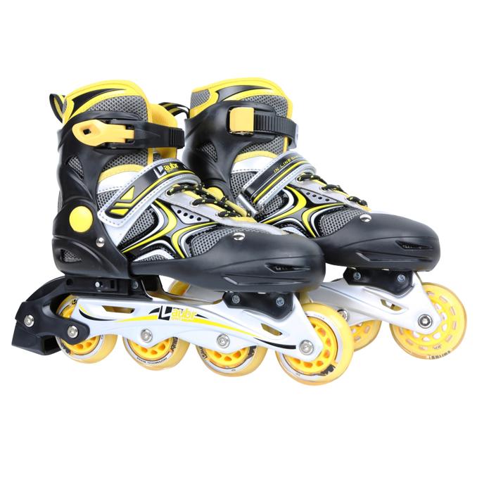 Kolečkové brusle Laubr Skate Race žlutá - S (31-34)