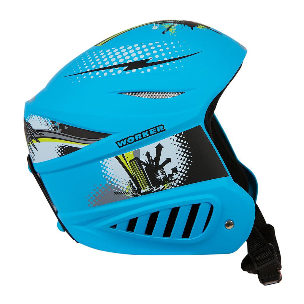 Lyžařská přilba WORKER Willy modrá - XS (48-50)