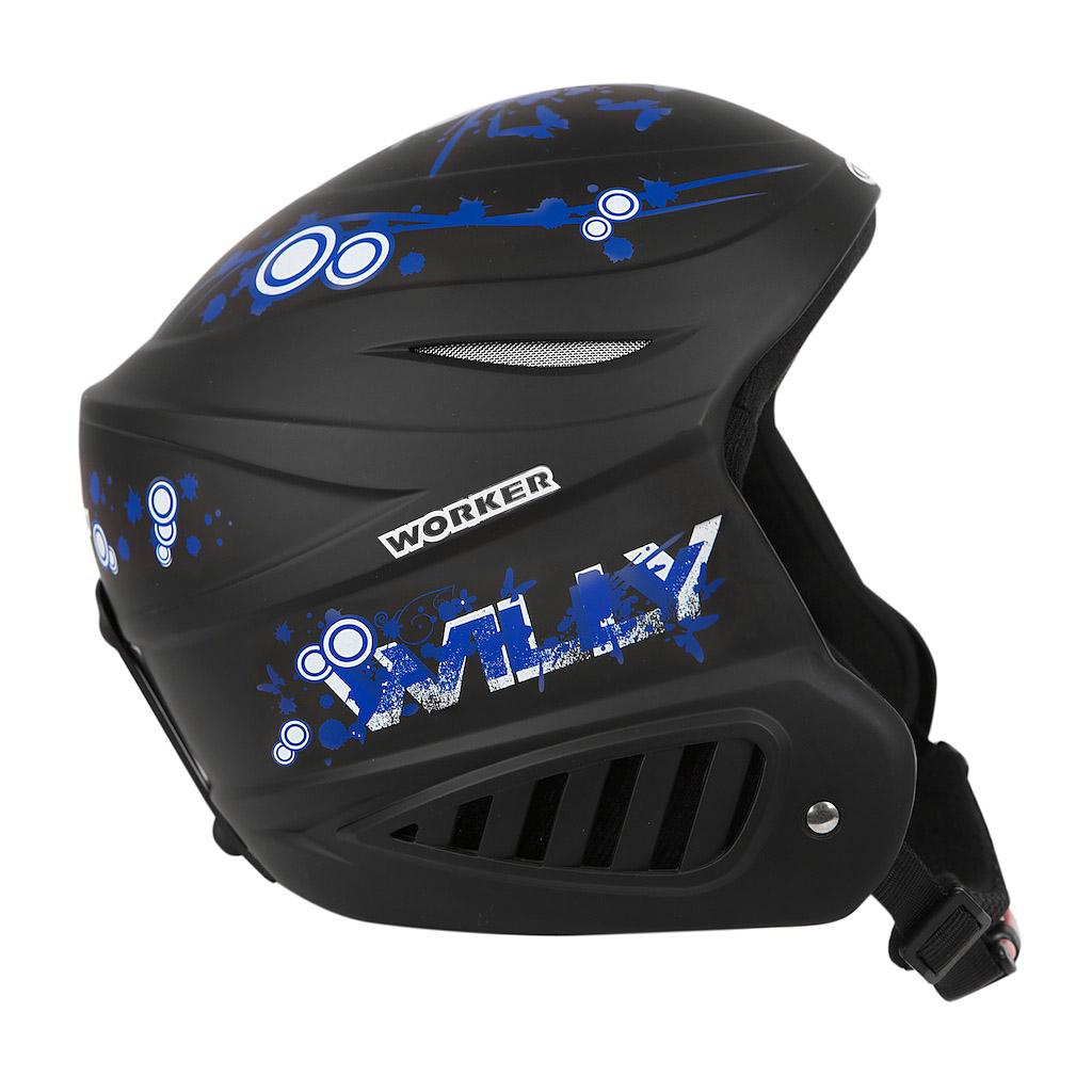 Lyžařská přilba WORKER Willy černá - XS (48-50)