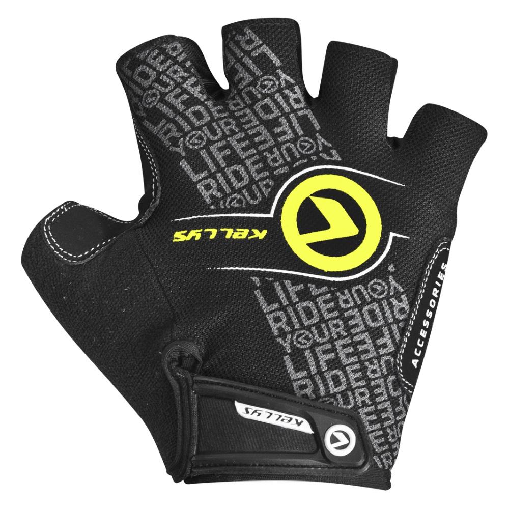 Cyklo rukavice KELLYS COMFORT NEW černo-limetková - S