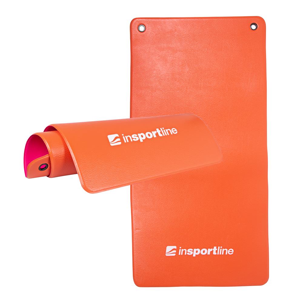 Podložka na cvičení inSPORTline Aero Advance 120 x 60 cm oranžovo-růžová