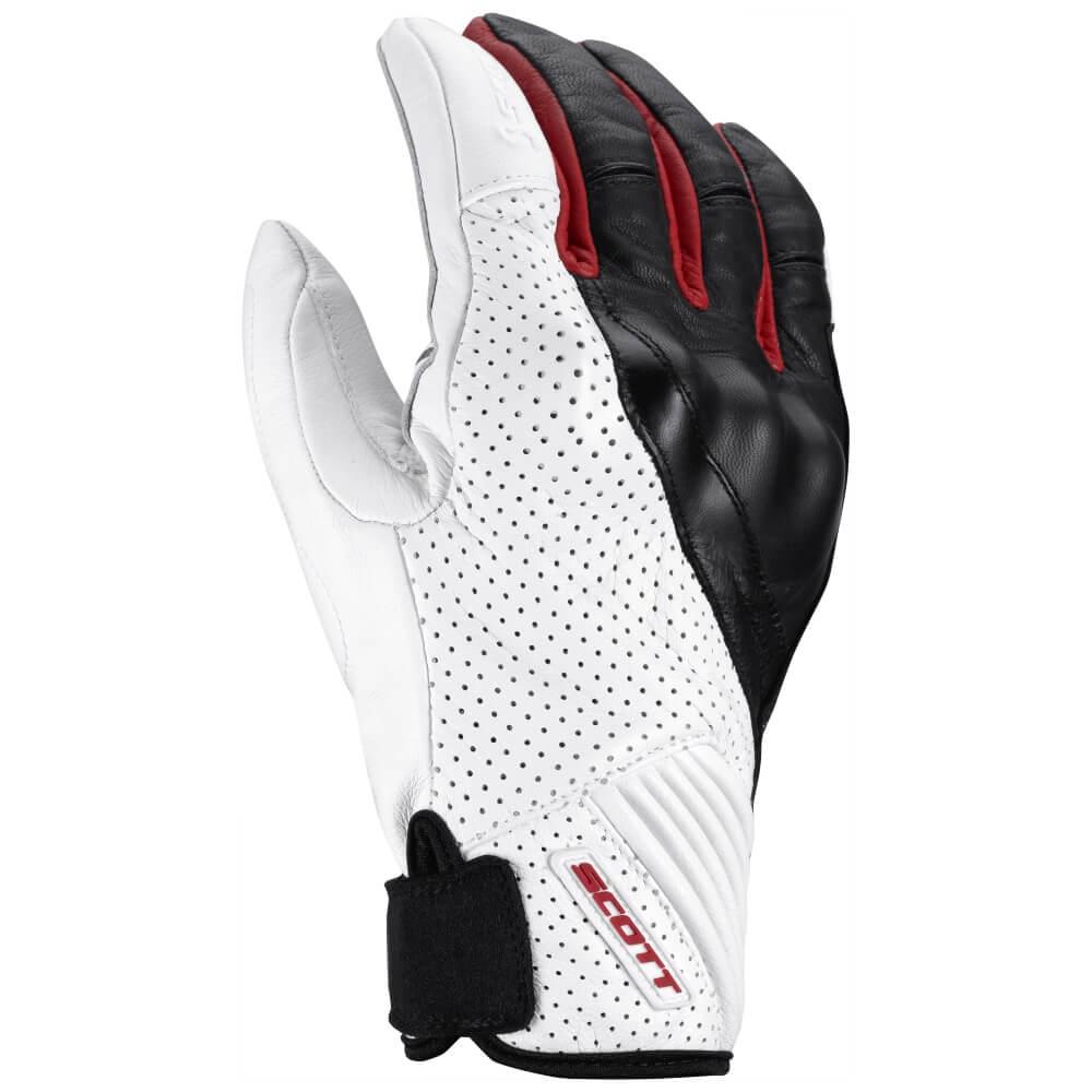 Moto rukavice SCOTT Lane 2 bílo-červená - L