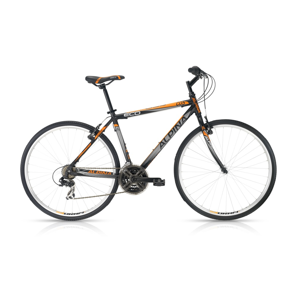 "Crossové kolo ALPINA ECO C05 dark-orange - model 2016 19"" - Záruka 5 let"