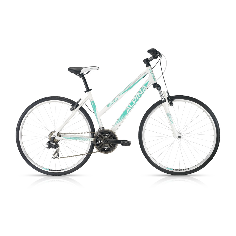 """Dámské crossové kolo ALPINA ECO LC10 white-turquoise - model 2016 457 mm (18"""") - Záruka 5 let"""
