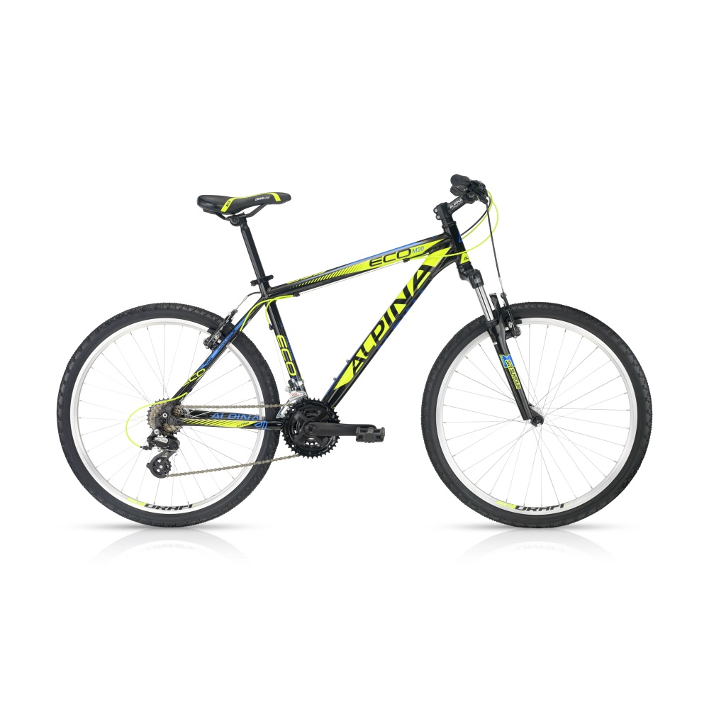 "Horské kolo ALPINA ECO M20 black-lime 26"" - model 2016 395 mm (15,5"") - záruka 5 let"