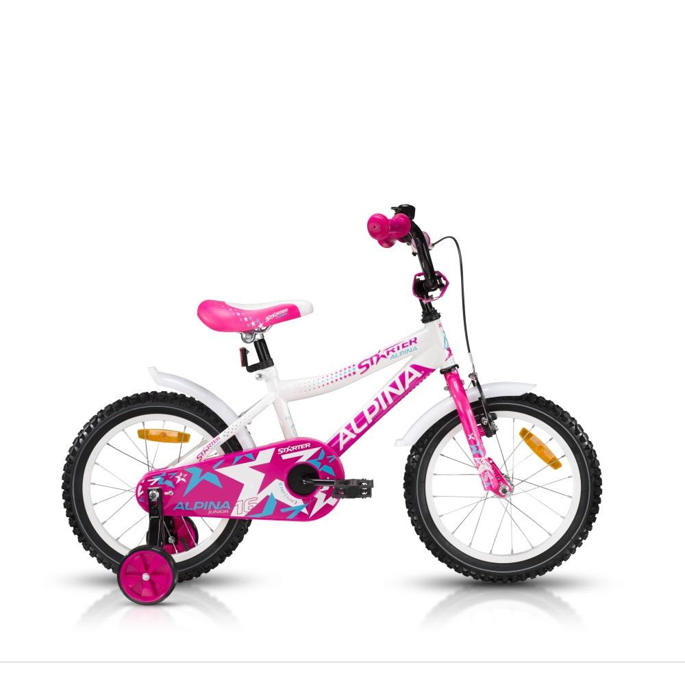 """Dětské kolo ALPINA Starter 16"""" - model 2016 růžová - 235 mm (9,5"""")"""