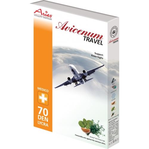 Zdravotní cestovní podkolenky Aries Avicenum 70 Travel béžová - 25-27