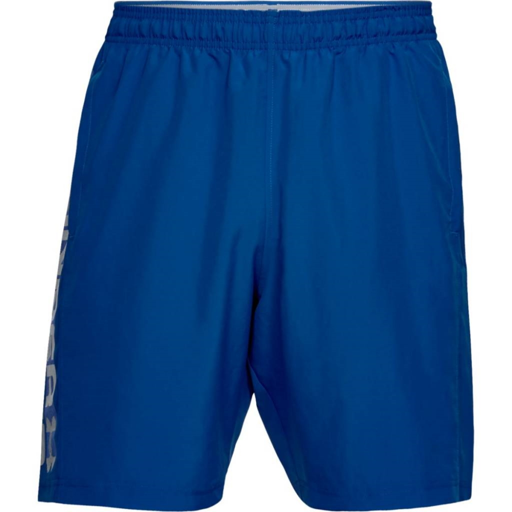 Under Armour Woven Graphic Wordmark Short RoyalSteel - M
