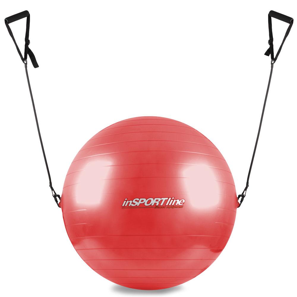 Gymnastický míč inSPORTline s úchyty 55 cm červená