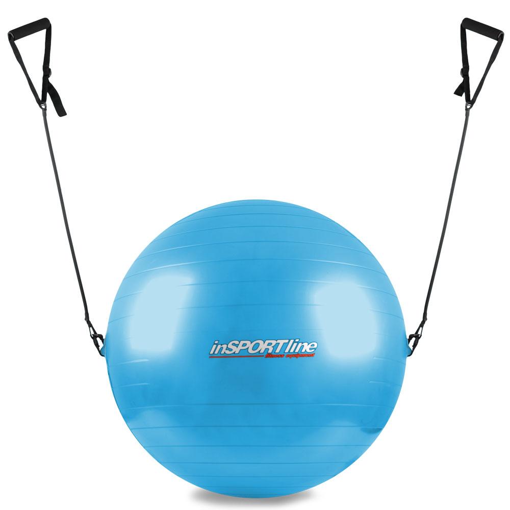 Gymnastický míč inSPORTline s úchyty 55 cm modrá