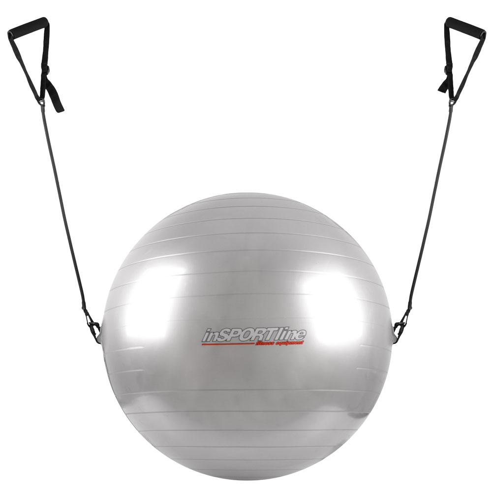 Gymnastický míč s úchyty inSPORTline 75 cm šedá
