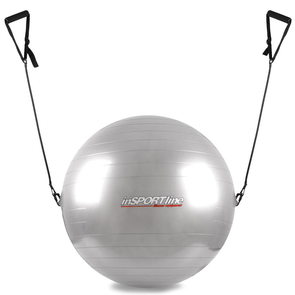 Gymnastický míč inSPORTline s úchyty 55 cm šedá