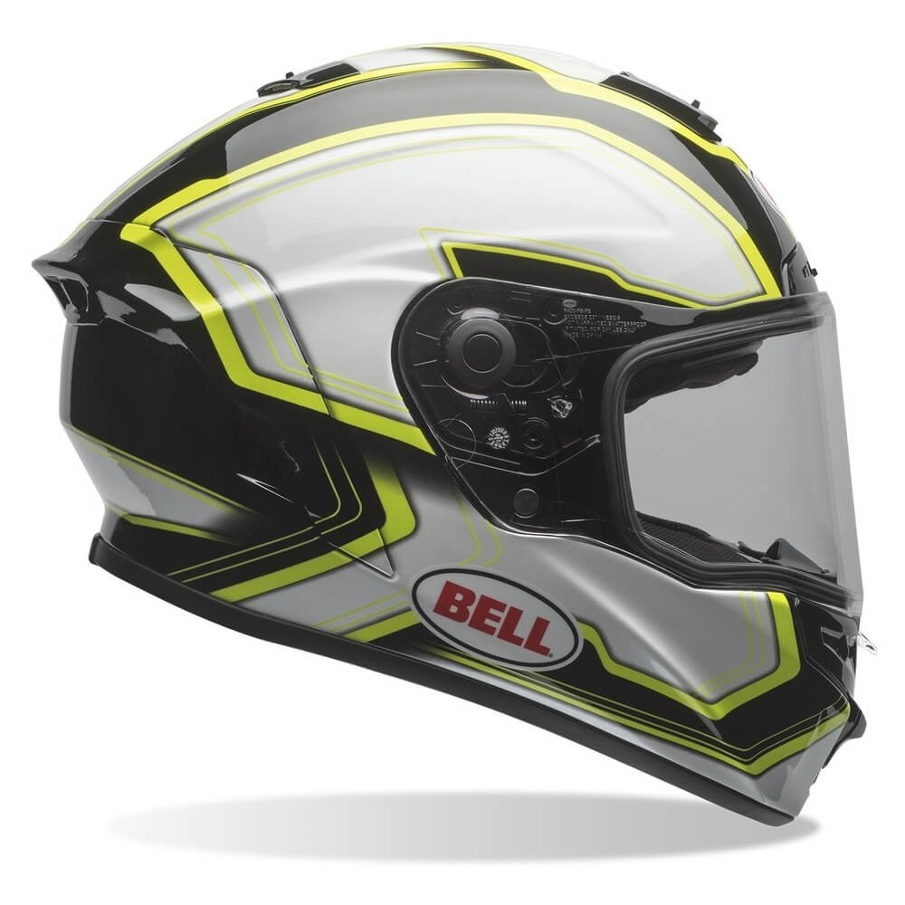 Moto helma BELL Star Pace Black-White - XL (61-62) - Záruka 5 let