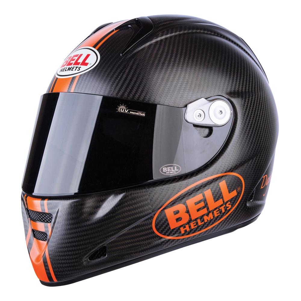 Moto přilba BELL M5X Carbon matně černá-oranžová - L (59-60) - Záruka 5 let