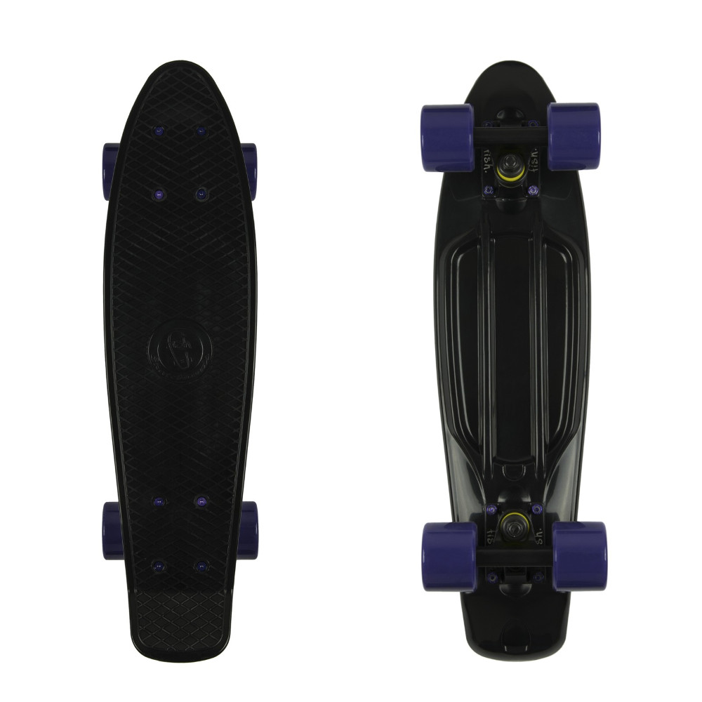 "Penny board Fish Classic 22"" Black-Black-Purple"