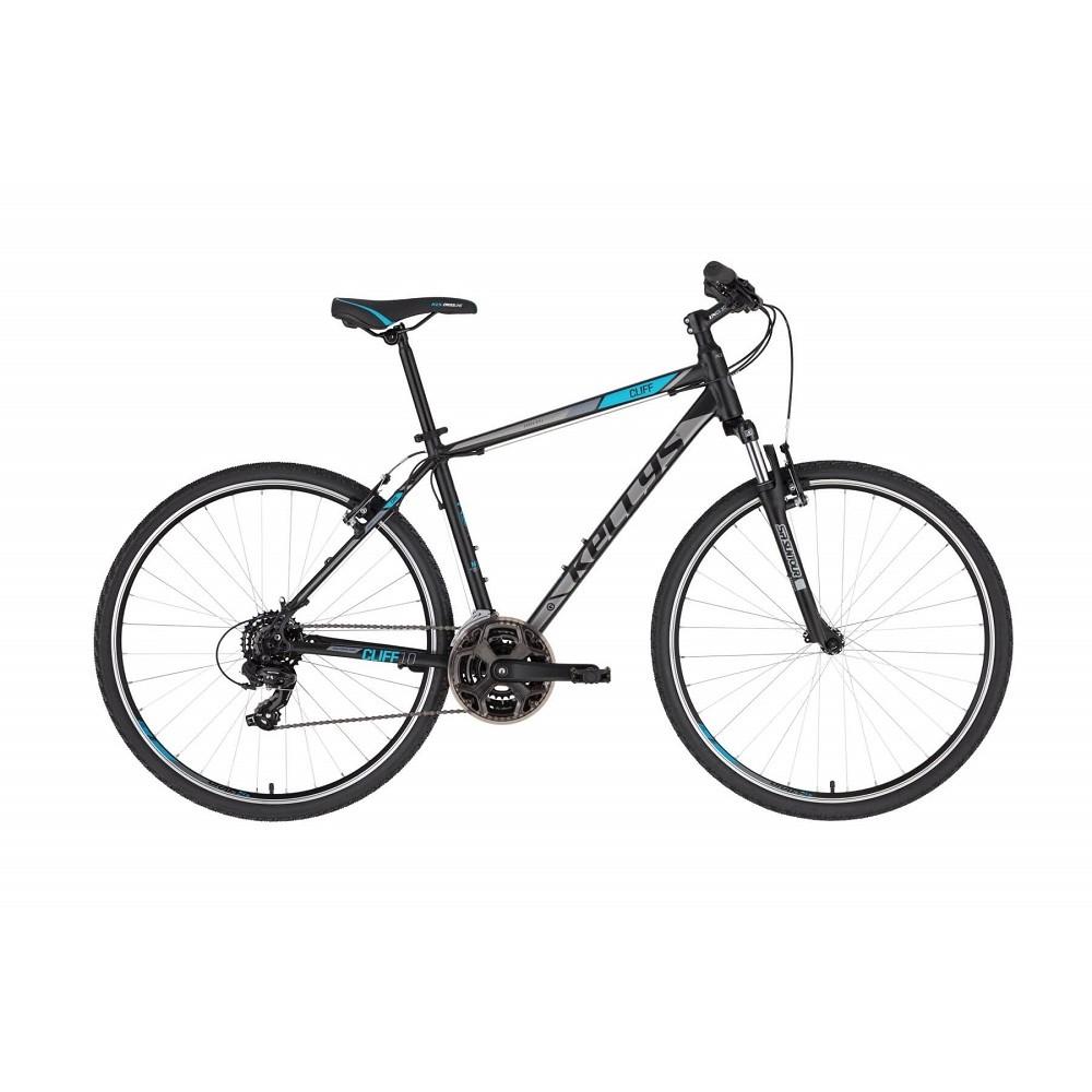 """Pánské crossové kolo KELLYS CLIFF 10 28"""" - model 2021 Black Blue - S (17'') - Záruka 10 let"""
