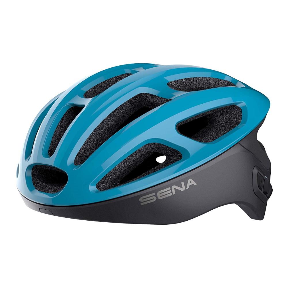 Cyklo přilba SENA R1 s integrovaným headsetem modrá - M (55-59)