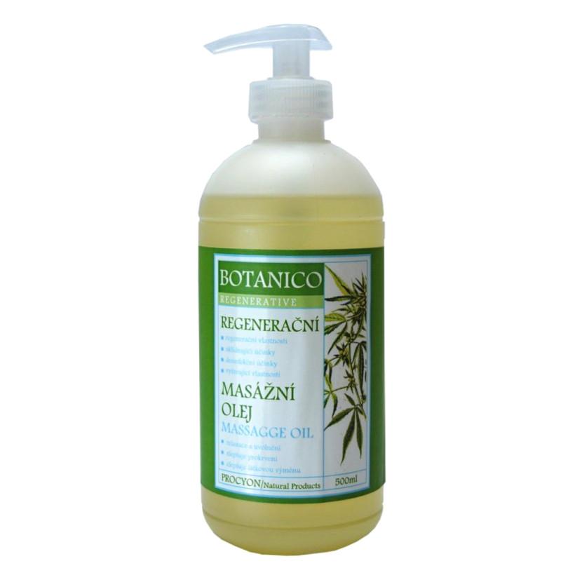 Konopný regenerační masážní olej Botanico 500 ml